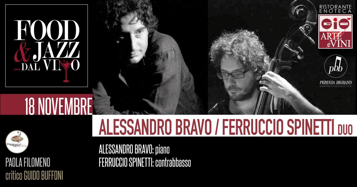 Alessandro Bravo Ferruccio Spinetti Duo Food Jazz dal Vino