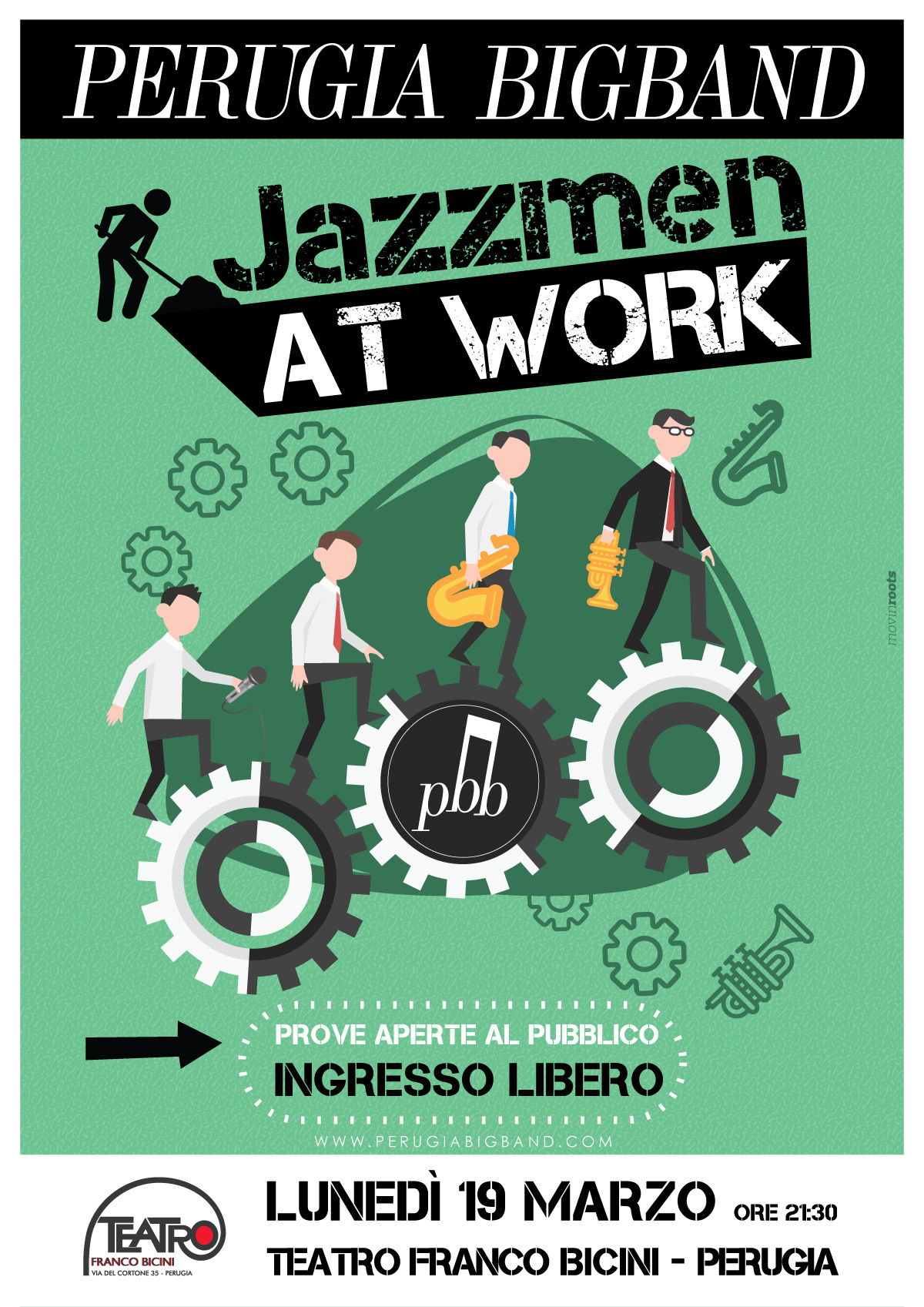 JAZZMEN AT WORK perugia big band Teatro Bicini