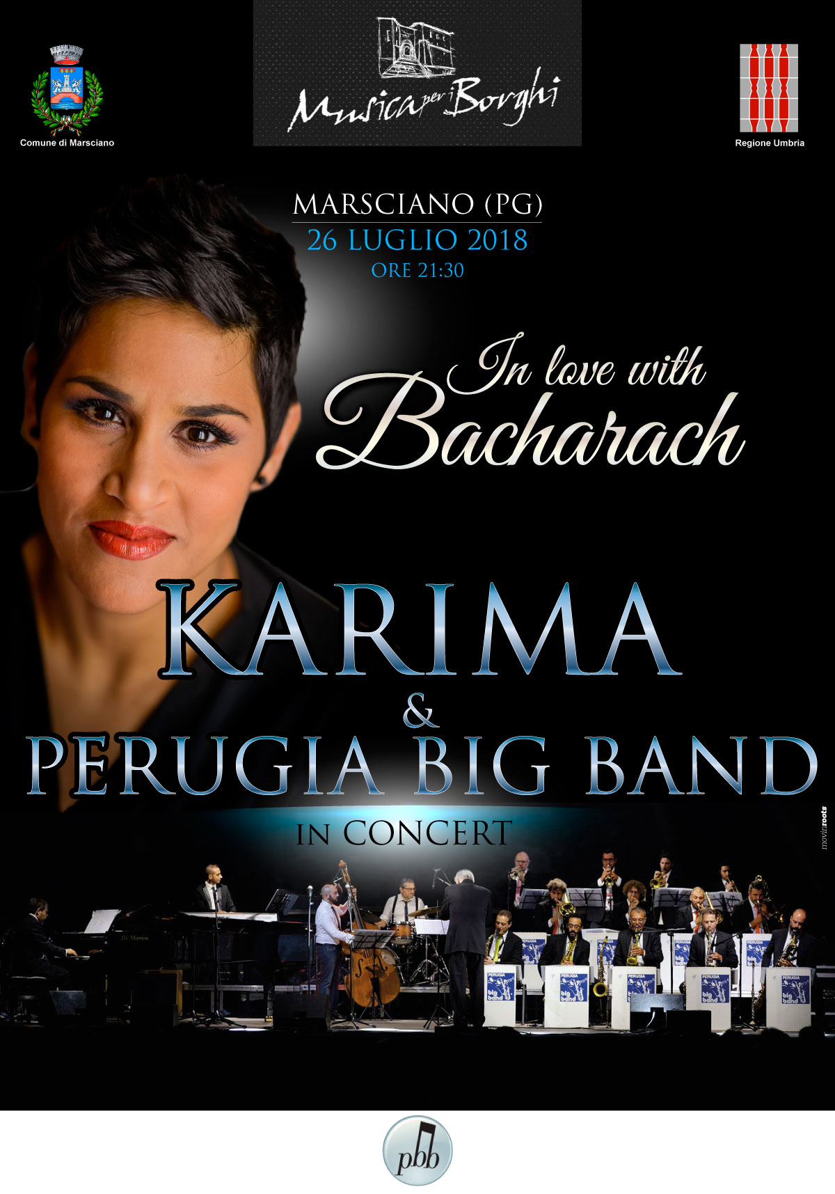 Karima Perugia Big Band Musica per i Borghi MARSCIANO