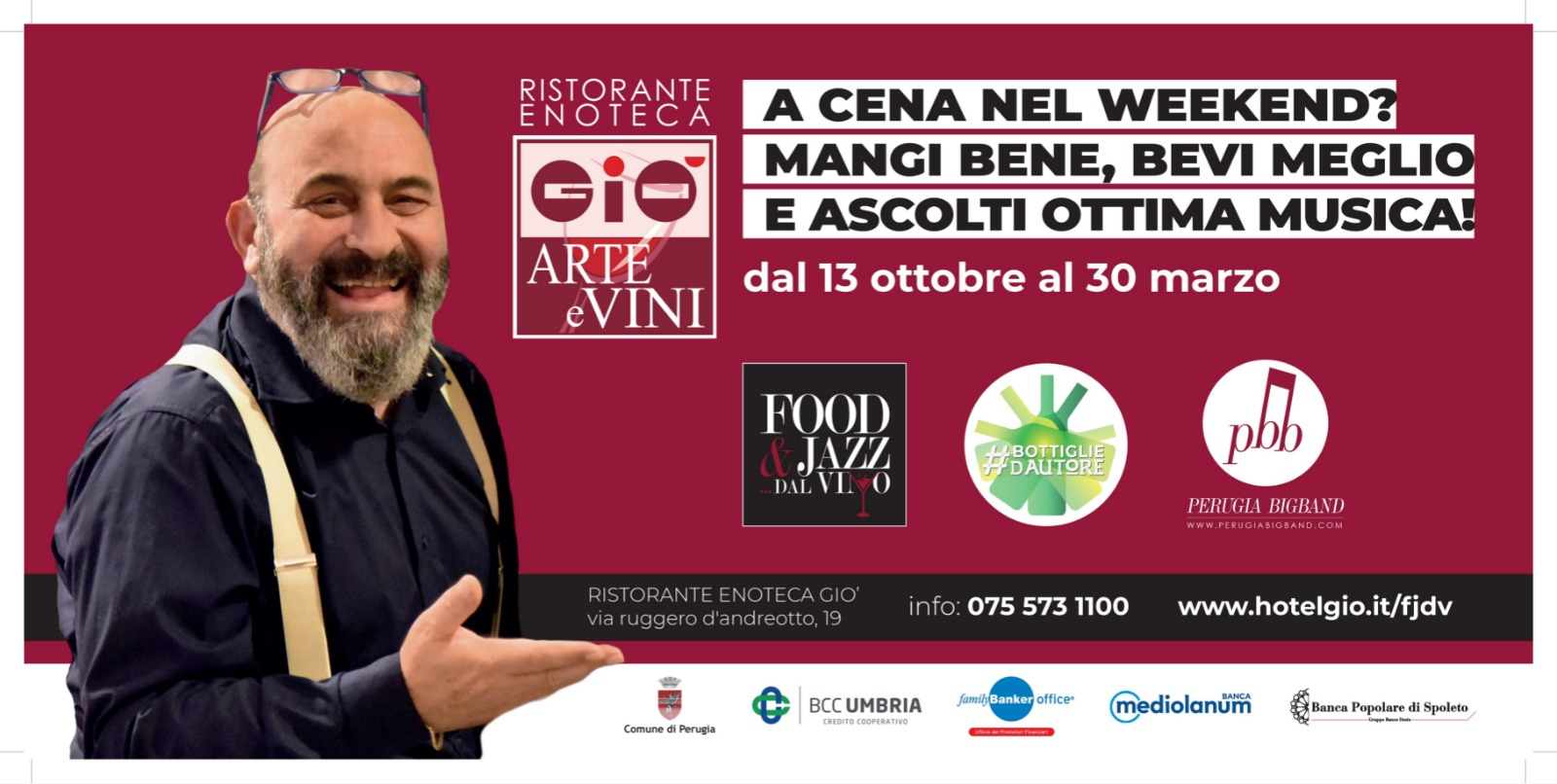 FOOD JAZZ DAL VINO 2018-2019