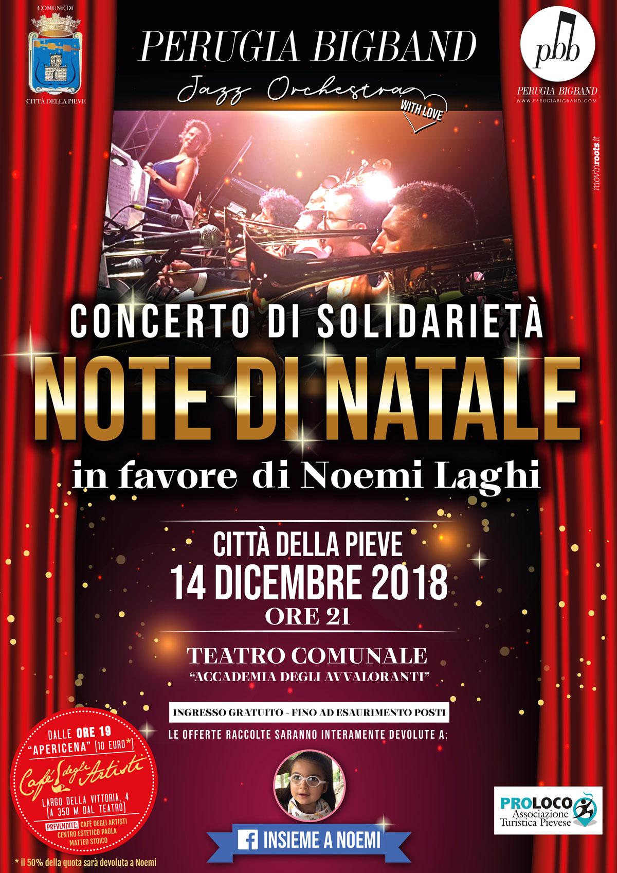 Insieme a Noemi concerto della Perugia Big Band a Città della Pieve